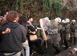 Столкновения в Афинах: полиция применила газ против студентов