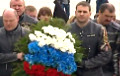 Does Viktar Lukashenka lay flowers with Russian bikers?