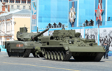 New Russian tank 'breaks down' during parade rehearsal