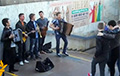 Music of banned Lyapis band in Minsk centre