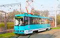 У Зялёным Лузе праз ДТЗ стаялі трамваі
