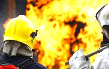 В Гродно загорелся микроавтобус