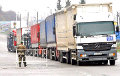 Ukrainians Block Russian Trucks On Border With Belarus