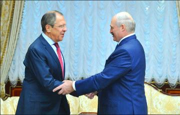 Лавров передал Лукашенко привет от Путина и напомнил о договоренностях в Сочи