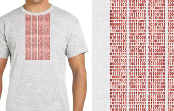 Belarusian Designer Created Embroidered T-Shirt For Programmers
