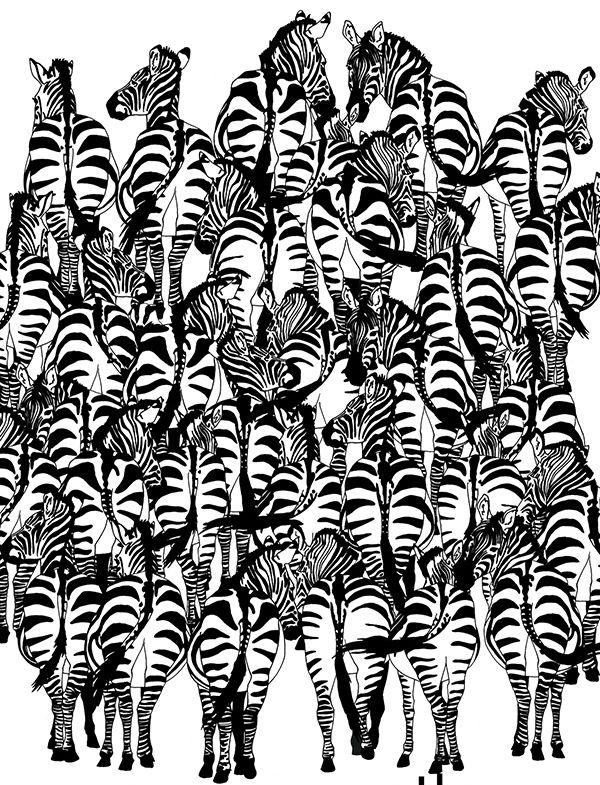 Загадка на выходные: Найдете ли барсука среди зебр?