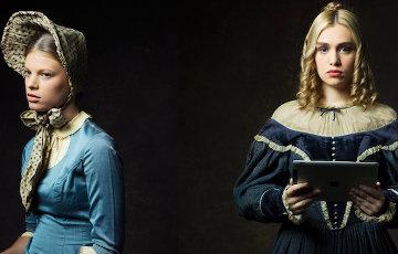 Фотопроект: Девушки из 19 века с современными гаджетами