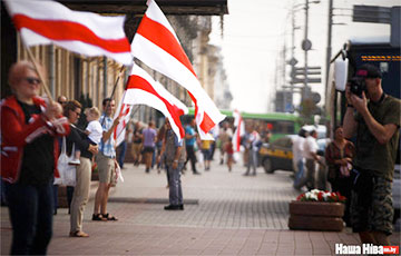 White-red-white Flags On Nezalezhnastsi Avenue (Live)