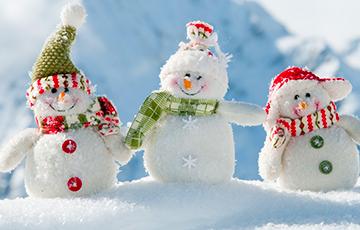 Атмосферные фронты принесли снег в Беларусь