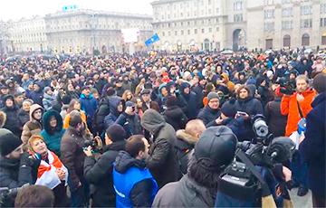 В Москве прошла акция солидарности с рассерженными белорусами