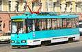 Видеофакт: По Минску курсирует трамвай с табличкой «Стоп таракан!»