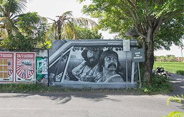 Віцебскія мастакі замалявалі незвычайнымі графіці ўвесь востраў Балі