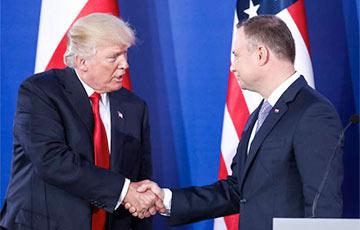 Трамп і Дуда падпішуць дэкларацыю пра павелічэнне войскаў ЗША ў Польшчы