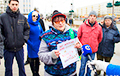 Over 100 People Take On To Square In Vitsebsk