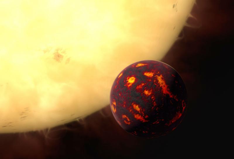 Планета 55 Рака e в представлении художника