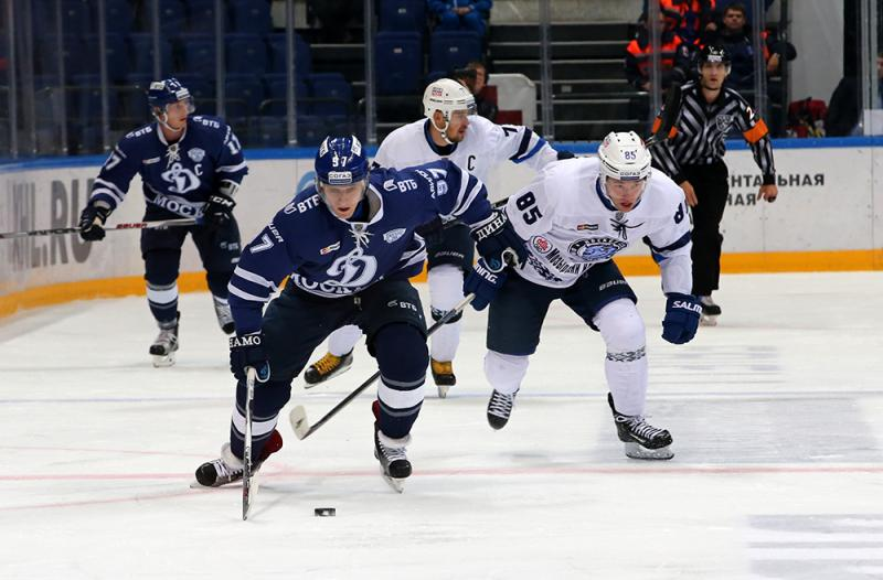 Минское «Динамо» выиграло умосковского ввыездном матче чемпионата КХЛ