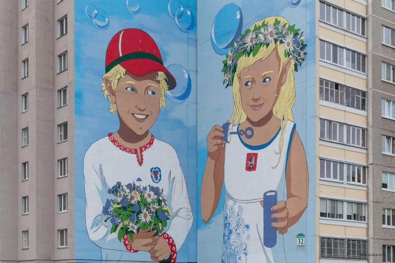 «Теперь стало лучше»: мурал одружбе Минска и столицы «украсили» колючей проволокой