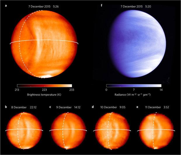 Ученые показали снимки гигантской волны наВенере