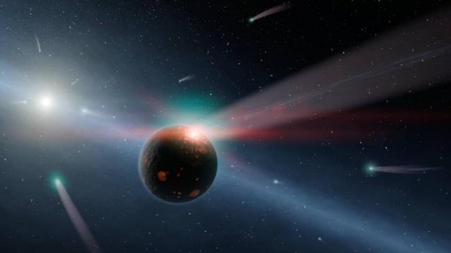 Учёные воссоздали перемещение четырёх планет вокруг звездыHR 8799