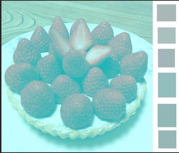 В прямоугольниках справа — реальные цвета пикселей которые выглядят красными