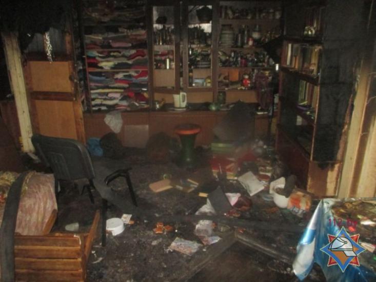 В центре Могилева на пожаре погибла женщина