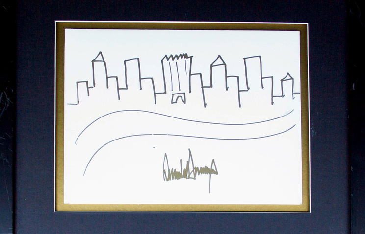 Рисунок Дональда Трампа ушел смолотка за $30 тыс.